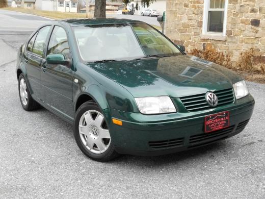 2000 Volkswagen Jetta 4 Door Sedan Green