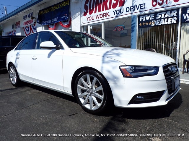 2013 Audi A4 4dr Sdn Auto quattro 20T Prem Sunrise Auto Outlet  is the car shopping destination f